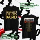 HITS TEDESCHI TRUCKS BAND WHEEL OF SOUL TOUR 2018 BLACK TEE'S 2SIDE MAN WOMEN ASTR 554