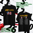 HITS DEF LEPPARD AND JOURNEY TOUR 2018 BLACK TEE'S 2SIDE MAN WOMEN ASTR 332