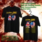 HITS DEF LEPPARD AND JOURNEY TOUR 2018 BLACK TEE'S 2SIDE MAN WOMEN ASTR
