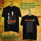 HITS BRYAN ADAMS THE ULTIMATE WORLD TOUR 2018 BLACK TEE'S 2SIDE MAN WOMEN ASTR