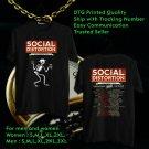 HITS SOCIAL DISTORTION SUMMER N.AMERICA TOUR 2018 BLACK TEE'S 2SIDE MAN WOMEN ASTR 332