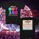 HITS BILLBOARD HOT 100 MUSIC FEST AUG 2018 BLACK TEE'S 2SIDE MAN WOMEN ASTR 777
