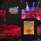HITS WE FEST MUSIC FEST AUG 2018 BLACK TEE'S 2SIDE MAN WOMEN ASTR 776