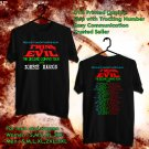 HITS ROB ZOMBIE AND MARILYN MANSON THE SECOND COMING TOUR 2018 BLACK TEE'S 2SIDE MAN WOMEN ASTR 546