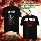 HITS JOE PERRY SOLO TOUR 2018 BLACK TEE'S 2SIDE MAN WOMEN ASTR 114