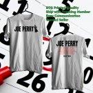 HITS JOE PERRY SOLO TOUR 2018 WHITE TEE'S 2SIDE MAN WOMEN ASTR