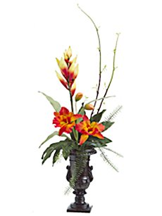 Heliconia, Silk Orchid Arrangement