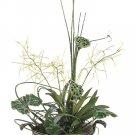 Elegant White Mauve Snapdragon Rose In Vase