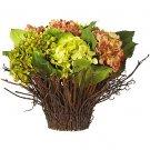 Hydrangea w/Twig Vase