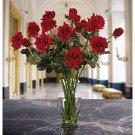 Long Stem Roses Liquid Illusion Silk Arangement - colors: Red,