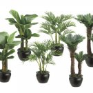 1/2 Dozen (6) - 22 inch Silk Palm Plants in Resin Pot Assortment of 3 Styles (2 ea./ style) Assorted