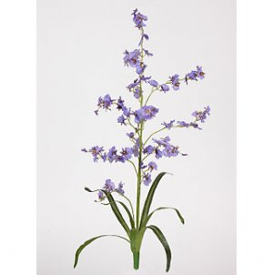 Dancing Lady Silk Orchid Flowers (6 Stems) - Purple