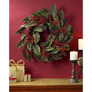 22� Golden Chili Berry Wreath