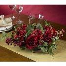 Rose Candelabrum Silk Flower Arrangement (Red)