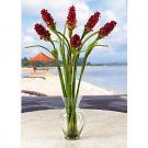 Oriental Ginger Liquid Illusion Silk Arrangement - Red/Green