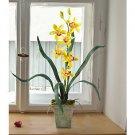 Cymbidium Silk Orchid Flower Arrangement - Yellow