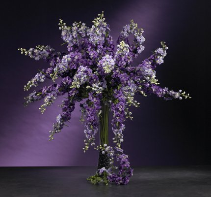 "38.5"" Delphinium Stem (Set of 12) - Purple"
