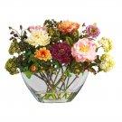 Peony w/Glass Vase