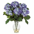 Hydrangea Liquid Illusion Silk Arrangement - Blue