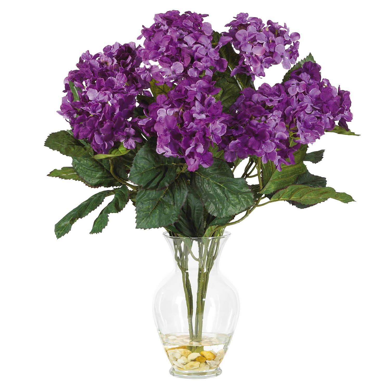 Hydrangea Liquid Illusion Silk Arrangement - Purple
