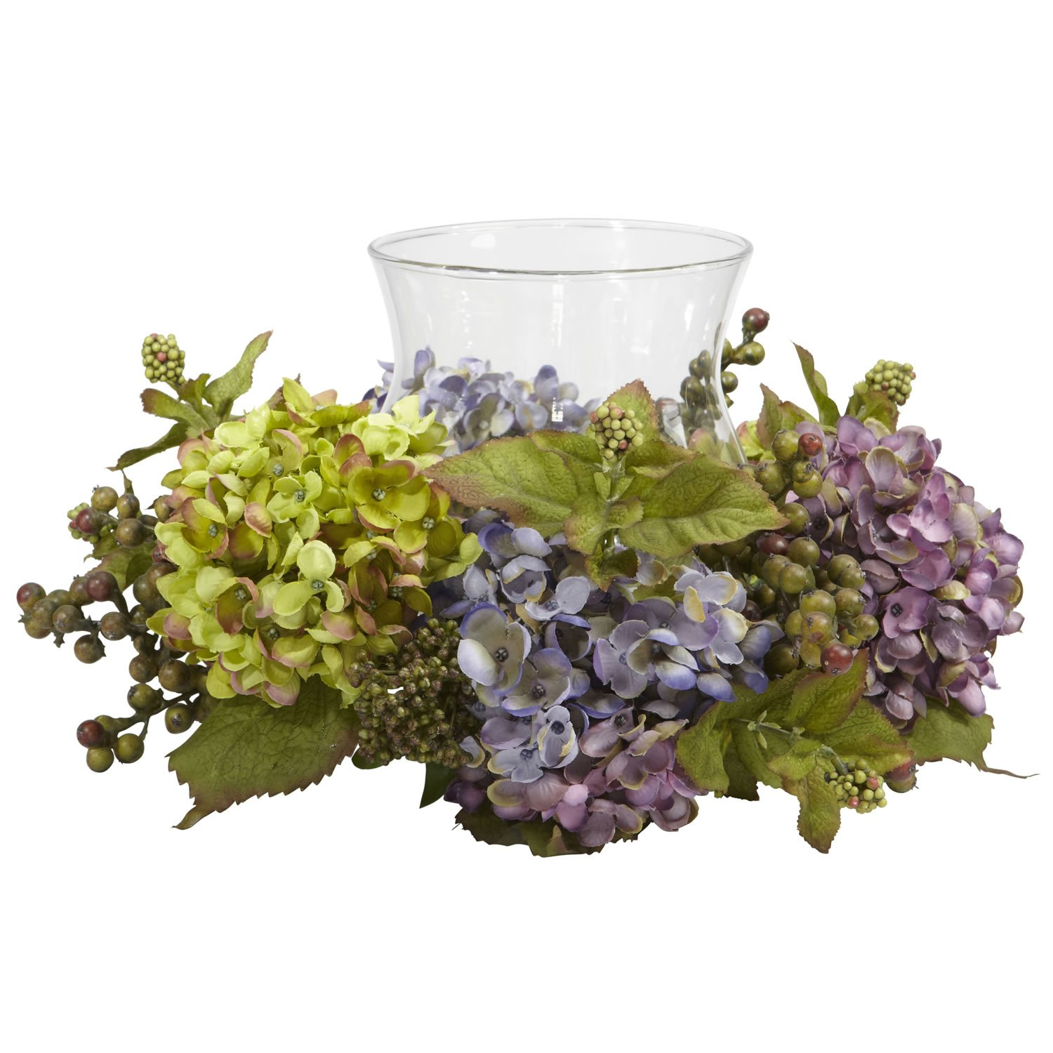Mixed Hydrangea Candelabrum Silk Arrangement
