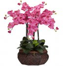 Large Phalaenopsis Silk Flower Arrangement - Dark Pink