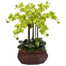 Large Phalaenopsis Silk Flower Arrangement - Green