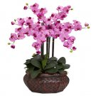 Large Phalaenopsis Silk Flower Arrangement - Mauve