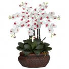 Large Phalaenopsis Silk Flower Arrangement - White