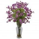 Dancing Daisy Silk Flower Arrangement (Purple)