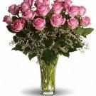 Make Me Blush - Dozen Long Stemmed Pink Roses (1 dozen)