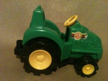 Green Plastic Toy Farm Tractor