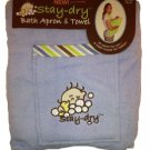Blue Stay Dry Bath Apron And Towel With Washmitt R22-BBA