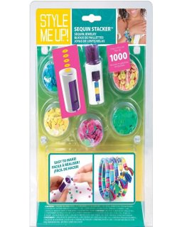 Green Style Me Up! Sequin Stacker Girls Jewelry Maker Kit RG5-MU88