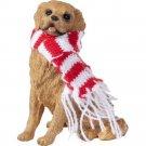 Sandicast Golden Retriever with Red/White Scarf Christmas Ornament YR2-GRRW