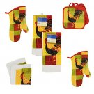 8 Piece Vibrant Country Rooster Kitchen Linen Set RA3-VCR8