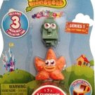 Moshi Monsters 3 Pack Series 1 Rocky, Fumble and 1 mystery Moshling! O15-MMRF