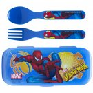 Zak! Spiderman Flatware Set for Kids (3 Pc: Spoon, Fork, Travel Case) SR2-SPI