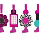 Pink Zebra Boutique Birthday Party Blowouts, 8 Favors Per Package B10-PZ