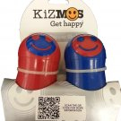 Kizmos Get Happy Smiley Face Salt & Pepper Shaker Set - Red & Blue RD3-KGH