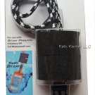 iCAT iBob Floatable Dri Cat Case Lanyard Black/White R14-WIB