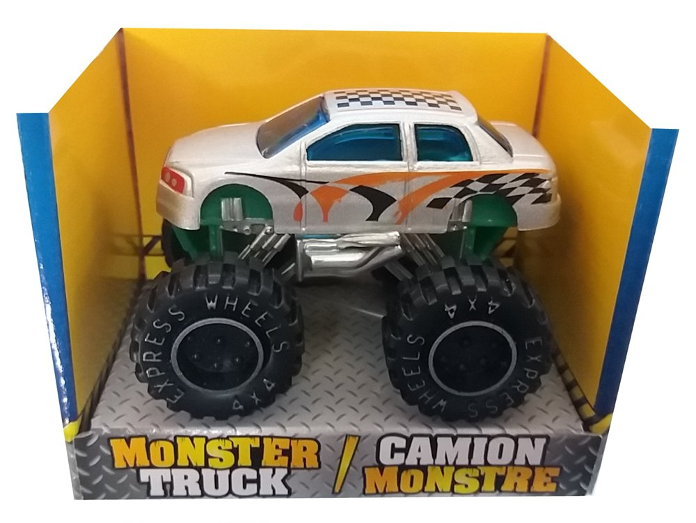 Turbo Wheels Die-Cast Monster 4x4 Truck - Silver Fox  B1-SFX