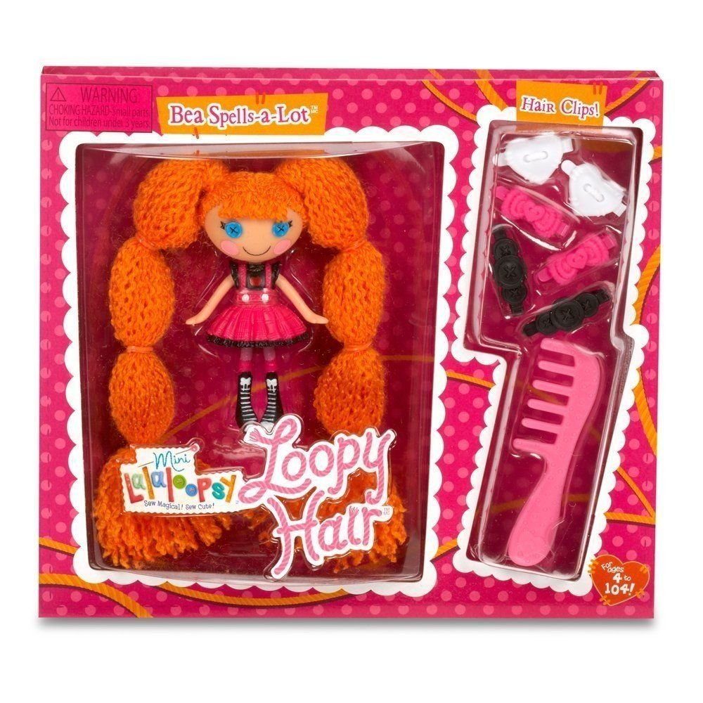 Lalaloopsy Mini Loopy Hair Bea Spells-a-Lot 3 in. Doll RA1-BSL