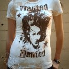 """Purple Wing T-shirt """"Wanted Jersey"""" + Free Ed Hardy Poster"""