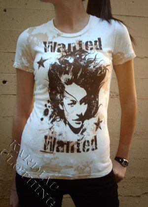 "Purple Wing T-shirt ""Wanted Jersey"" + Free Ed Hardy Poster"