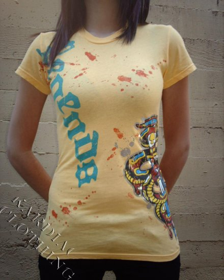 """Legends of Style T-Shirt """"Yellow Snake"""" + Free Ed Hardy Poster"""