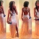 Crystal Beaded Prom Dress
