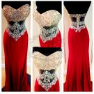 Crystal Beading Prom Dress