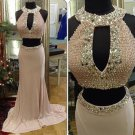 Two Pieces Pearl Prom Dress