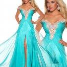 Elegant Beaded Prom Dress